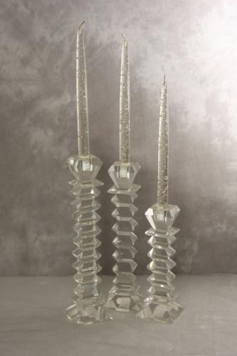 """Glasleuchter für Spitzkerzen """"Crystal 3teiliges Set"""