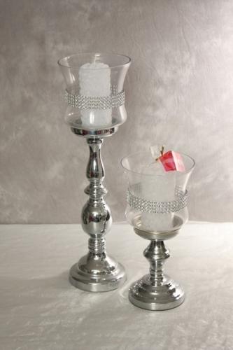 Kerzenleuchter 2 teilig silber