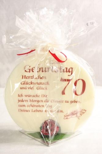 Kerze für 60,70 und 80. Geburtstag
