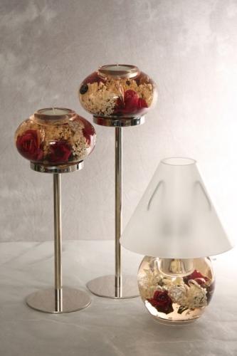 Dreamland Teelichthalter 3teilig Rose