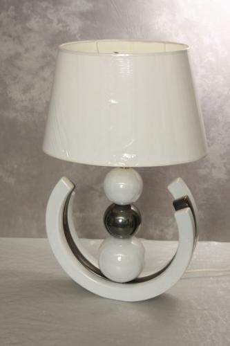 Lampe weiß/grau