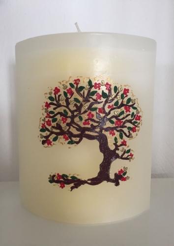 SHADOW- Elypse Lebensbaum  pastellgelb