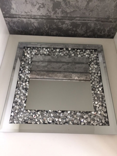SPIEGEL-Dekoteller 25x25 cm mit Glassteine