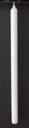 12 S T Ü C K  TAUFKERZEN-ROHLING 500x30 mm weiß