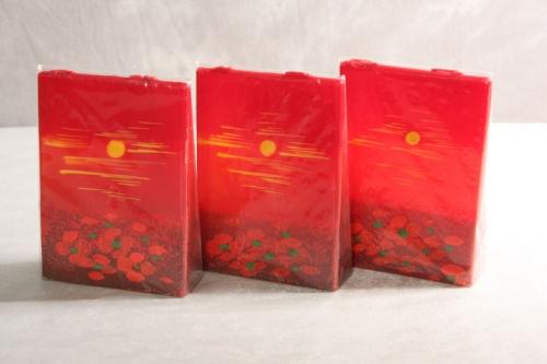 Kerzenset 3 teilig rot