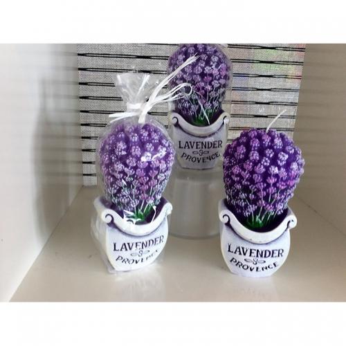 Lavendel Duftkerze PROVENCE 3-teilig