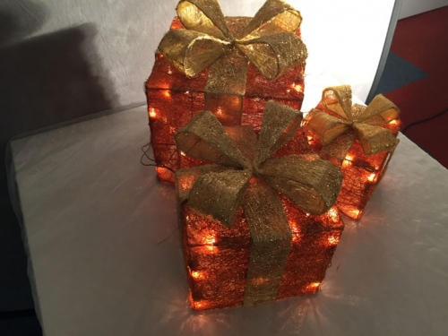Weihnachtsbeleuchtung 3teilig  orange