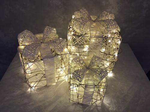 Weihnachtsbeleuchtung 3teilig weiß